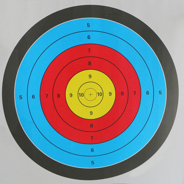 1pc 60*60CM Archery Targets Sticker Shooting Target Paper Hunting Dart Accessories Full Ring Bow Arrow Gauge Target Aim