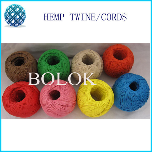 12 kinds color waxed and dyed hemp cord (8pcs/lot) hemp rope,1MM twine 100m/ball used in all kinds packing by Free shipping