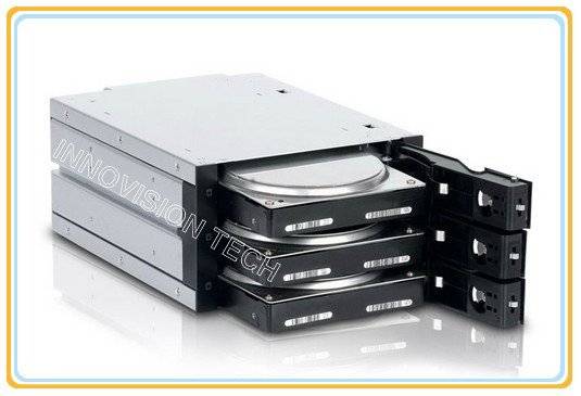 """INNO 6203SSW 3*3.5""""hot-swap HDD internal enclosure  occupy 2*5.25""""CD-ROM space"""