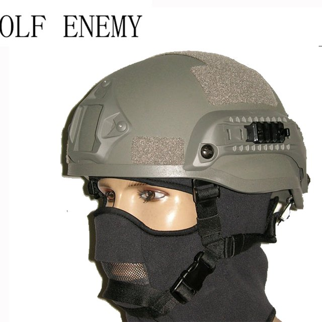 ACH MICH 2002 Military Tactical Combat Helmet & Side Rail For Airsoft Paintball Field game Movie Prop Cosplay