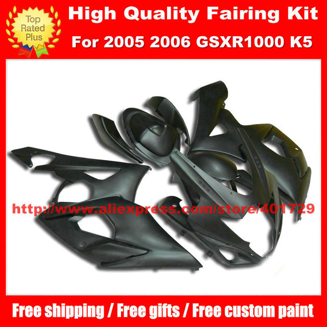 Injection Flat black Motorcycle Fairings for SUZUKI GSX- R1000 2005 2006 GSXR1000 05 06 K5 l gifts motorcycle body work