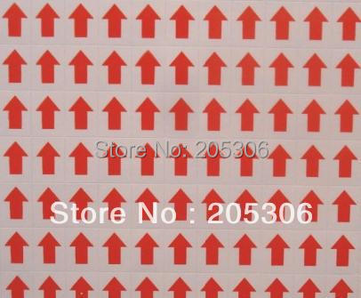 60000 pcs/lot 12x9mm Red arrow Self-adhesive paper lable sticker, Item No.GU11, Free shipping