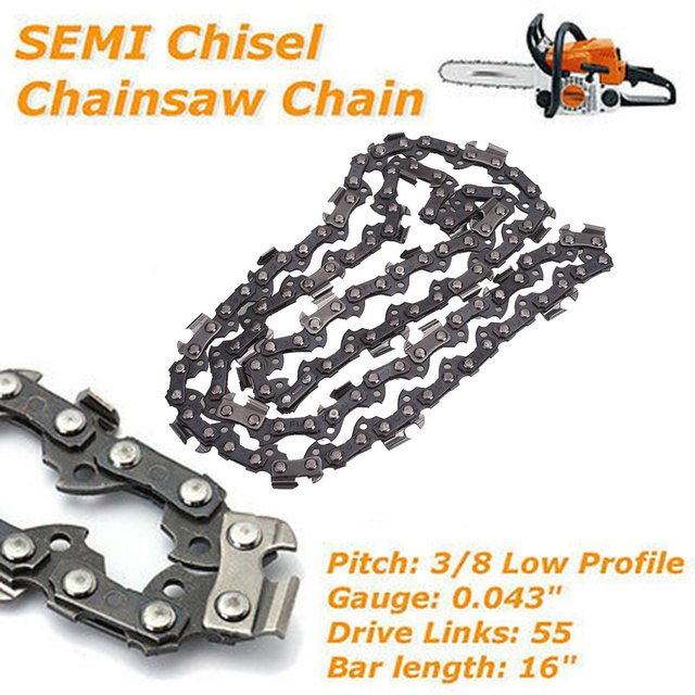 Semi Chisel 55 Drive Links Cutting Professional Chainsaw Chain Replacement 3/8 Durable Tooth Chain Drop Shipping