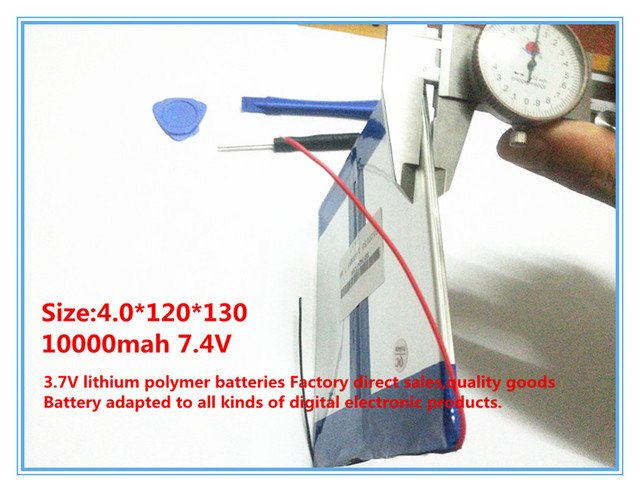 7.4V,10000mAH,40120130 (polymer lithium ion battery / cell ) Li-ion battery for tablet pc