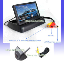 """Ccd hd backup Car rear view camera +4.3"""" Foldable LCD Monitor for car rear/front view camera Parking system"""