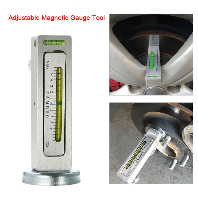 Hot sale Car-styling AUTO Adjustable Magnetic Gauge Tool Camber Castor Strut Wheel Alignment Truck Car for Universa