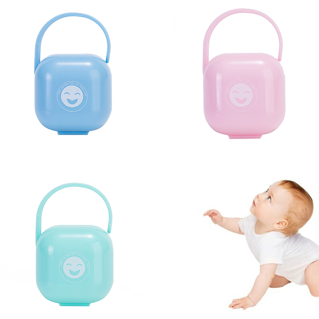 Baby Pacifier Whole Silicone Portable Baby Infant Pacifier Nipple Storage Box Holder Travel Case Baby Soother Container Holder