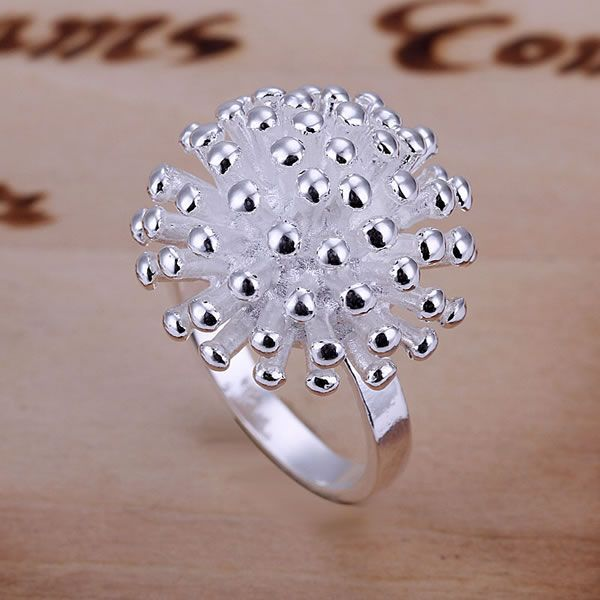 DT-R001 Hot Sale Free Shipping  Jewelry Silver Fine  Jewelry Wholesale Silver Charms Fashion Fireworks Ring/dqramhy