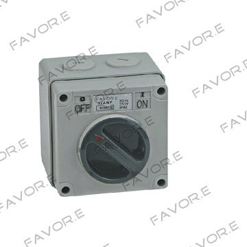 *63A three phase 3 pole Weather protected Isolator switch IP66 56SW363