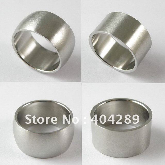 Free Shipping 36pcs Top Quality Super Wide 316L Stainless Steel Matt Men's Jewelry Rings