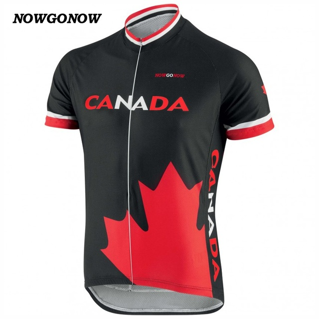 NEW 2017 CANADA Classical Jersey pro / road RACE Pro Team Bicycle Bike Cycling Jersey / Wear / Clothing / Breathable JIASHUO