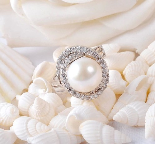 ADJUSTABLE Real Freshwater Pearl Ring 11-12 Super Big Size Jewellery Fashion Finger Ring Hot Promotion!!!