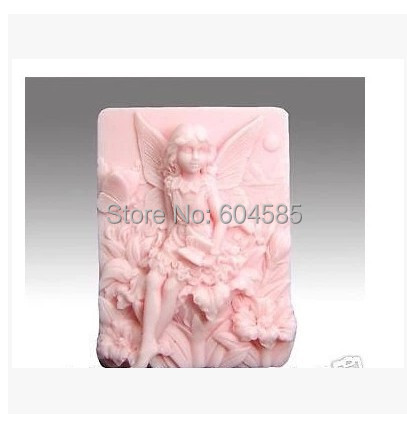 "3.5"" Fairy Flowers 0570 Craft Art Silicone Soap mold Craft Molds DIY"