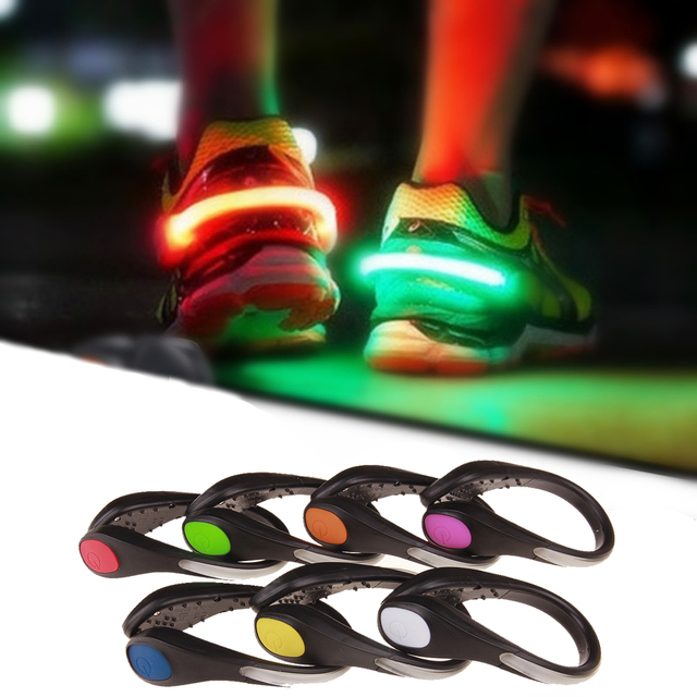 1pc Flashing Led Shoe Clip Novelty Luminous Toys for Children Adult Glowing Outdoor Running Safety Warning Lights Toy
