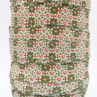 WM ribbon wholesale/OEM 5/8inch16mm Printed folded over elastic Webbing Party Style craft FOE 50yds/roll free shipping 140709002