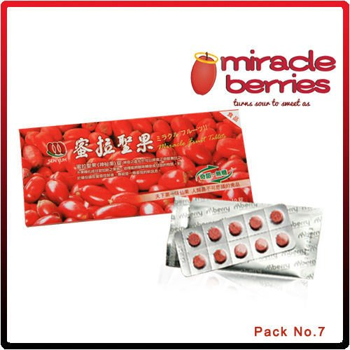 miracle fruit Tablets-mberry-sour to sweet!