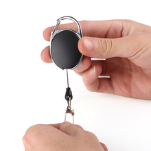 Retracable Keychain Keyring Anti-lost Anti-theft Wire Rope Spring Buckle Outdoor Survival Camp Tool WIF66
