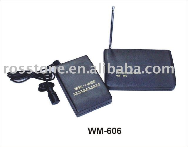 WM-606(VHF Tie Clip Wireless  Microphone)