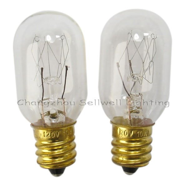 E12 T20x48mm 120v 10w Miniature Lamp Bulbs Lighting A163 Indicator Bulb