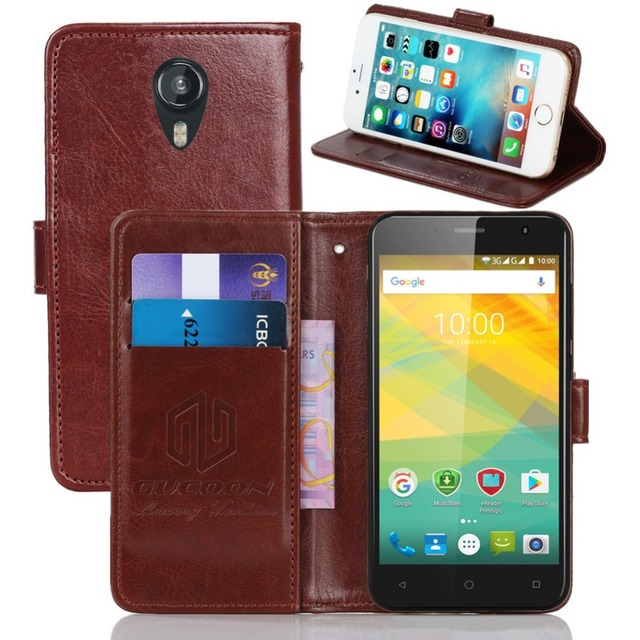 GUCOON Vintage Wallet Case for Prestigio Muze B3 3512 DUO 5.0inch PU Leather Retro Flip Cover Magnetic Fashion Cases