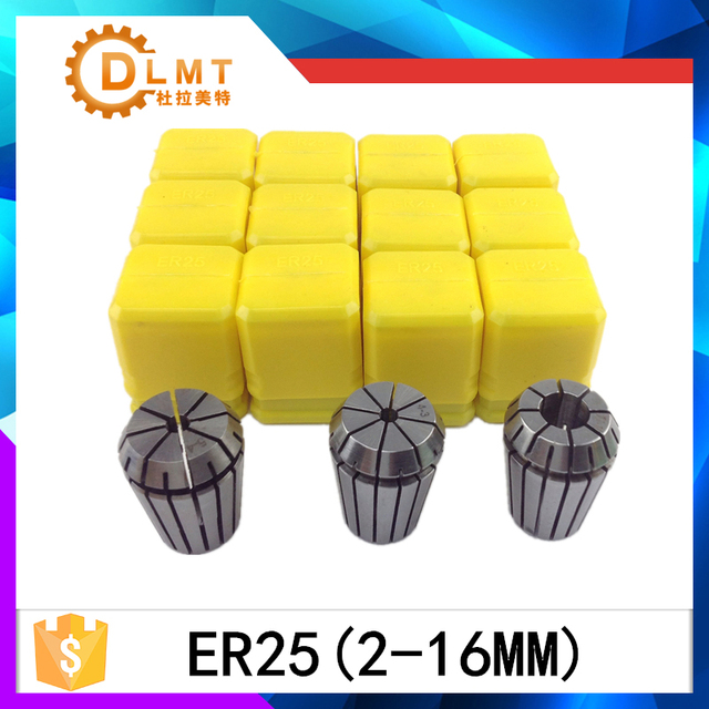 ER25 (2-16mm) Beating 0.1mm Precision Spring Collet for CNC Milling Lathe Tool and spindle motor