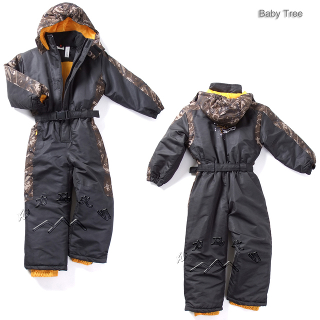 1-6Y Germany brand kids winter ski suits thick warm cotton-padded winter outdoor jackets baby boys girls winter snow clothes set