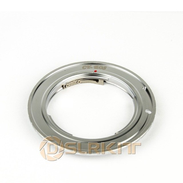 Sliver Lens Adapter Ring for C/Y CY  Contax Yashica Lens and CANON EOS EF Mount adapter