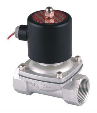 """Free Shipping 2PCS/LOT 1.25"""" Stainless Steel Normally Closed Solenoid Valve DC12V 2 Way VITON Oil Acid"""