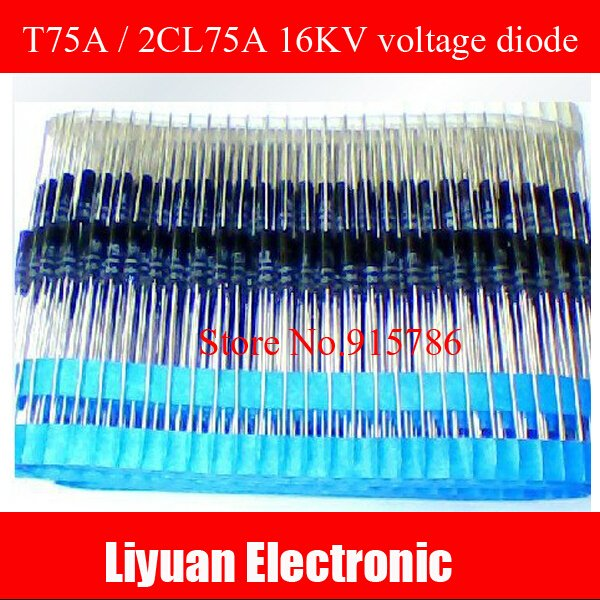 30pcs T75A / 2CL75A 16KV voltage diode / high voltage silicon particles Free Shipping