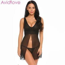 Avidlove Lady Lingerie Porn Nightgown Dress Women Mini Babydoll ...