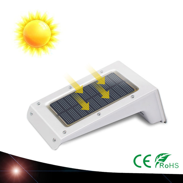 LED Solar Power Outdoor Waterproof Garden Pathway Stairs Energy Saving Lamp Solar LED Light Wall Lamp White