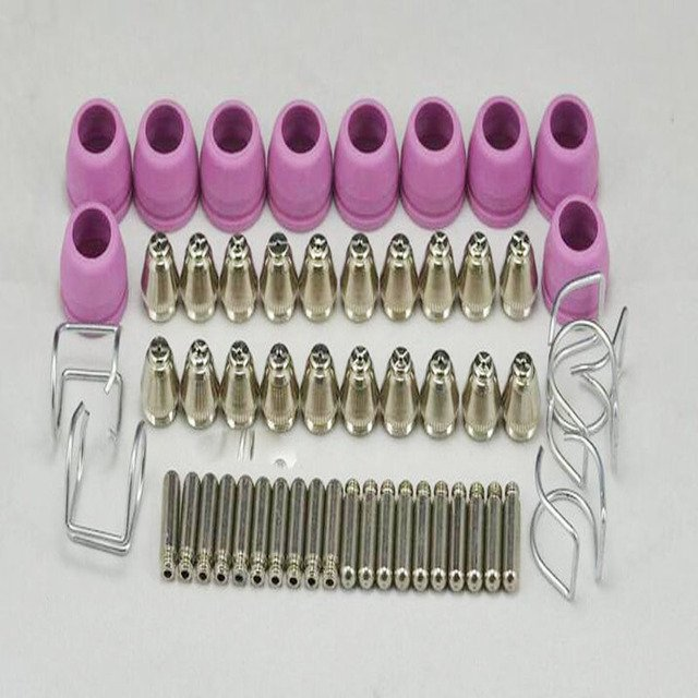 Free Shipping 55PCS,SG-55 AG-60 cutting torch parts, AG60 SG55 Consumables for Plasma Cutter