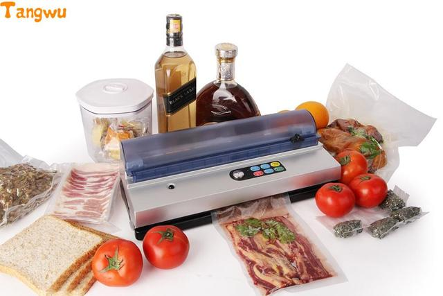 Free shipping  small commercial vacuum sealing machine for plastic packaging machine for household food vacuum packaging