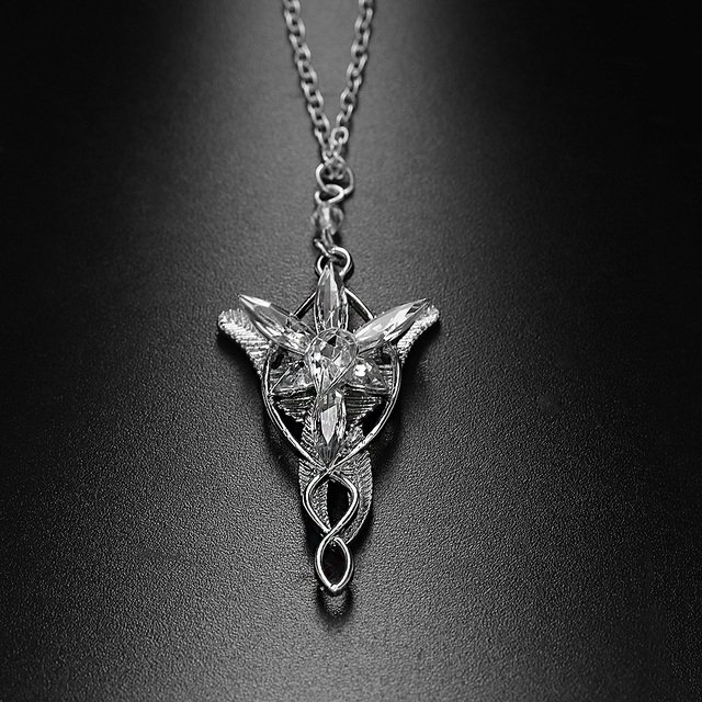 Hot 1 PCS  Fashion  Silver Lord Of The Chain Arwen's Evenstar Necklace Pendant Chain Jewelry
