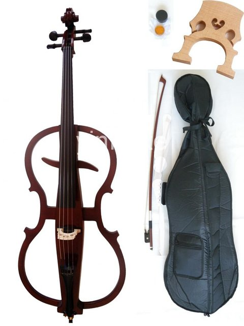 4/4 New Electric cello Powerful Sound White Blue Black Yellow solid wood