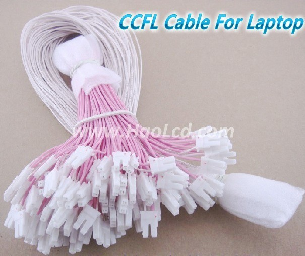 20pcs x CCFL Cable Sets Single CCFL Lamps Wire with Connector Support 8 -14 inch Lamps of LCD Laptop Free Shipping