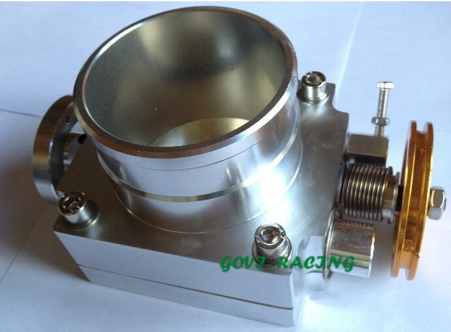 sliver  car auto throttle  body with aluminum   90mm/100mm/70mm/80mm/65mm universal for air inntake pipe 0258007057 mr577099
