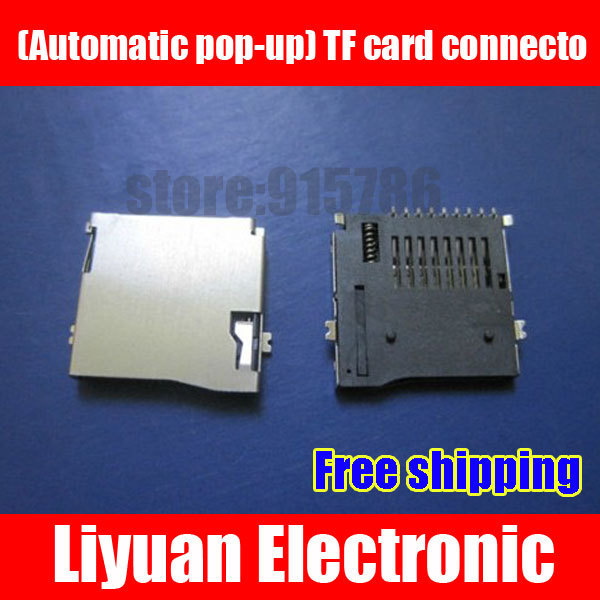 Free shipping (Automatic pop-up) TF card connector / micro sd card connector / memory card connector / TF card sets