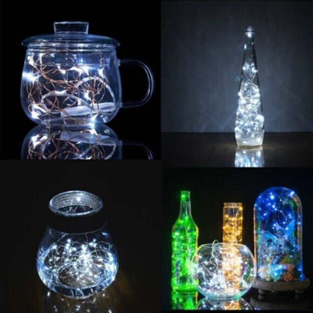 Fairy Light Copper Wire 20 LED Battery Xmas Decor Landscape Lamp Garden Yard Outdoor Festival Fairy String