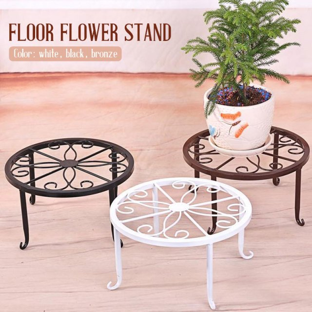 Potted Stander Flower Pot Rack Flower Shelf Storage Rack Home Decor Create Durable Garden Wrought Iron