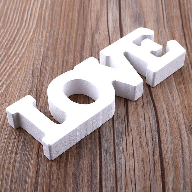"""Wooden Letter Alphabet Word Free Standing """"LOVE"""" Letter Word Home Decoration Accessories Wedding Party Birthday Wood Letters"""