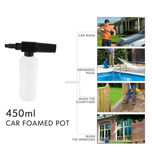 Snow Foam Lance Water Gun Maintenance Connection Adjust Supplies Sprayer Soap with Adapter 450ml Tube Tool Wash