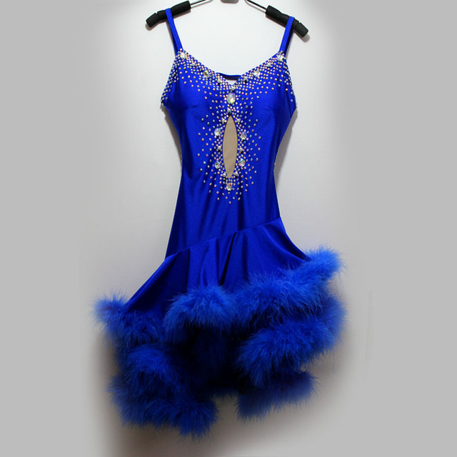 New style latin dance costume sexy Feather spandex latin dance competition dress for women child latin dance dresses S-4XL