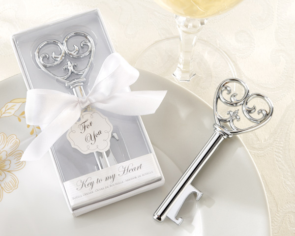 (25 pieces/lot) Love Heart Wedding souvenirs Simply Elegant Key To My Heart Bottle Opener Party favors and Bridal showers