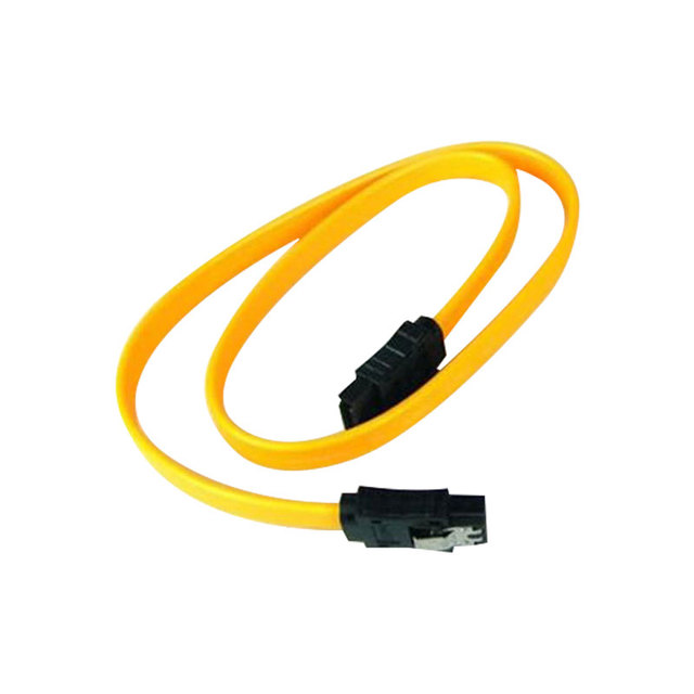 SATA Serial ATA Data Line Hard Disk Data Sync Cable Wire Straight Yellow