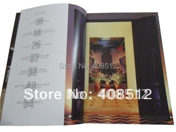 customized design 20 pages catalogue / booklet / magazine printing