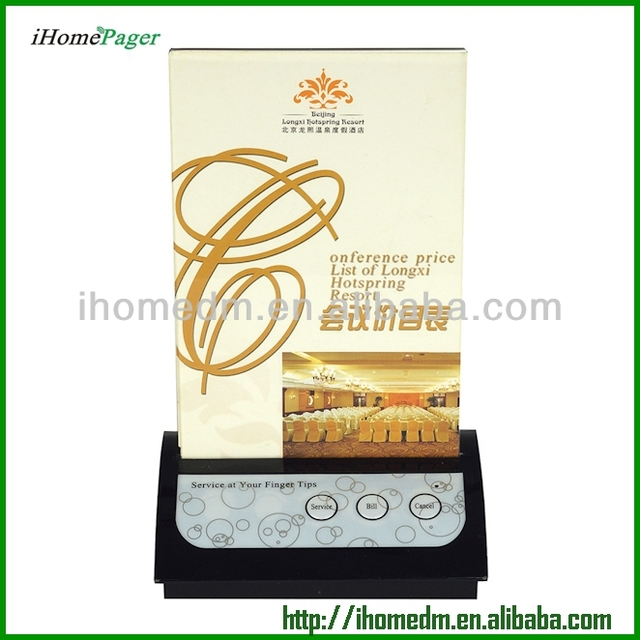 Counter communication system restaurant customer pager with screw hole at the bottom Table service button