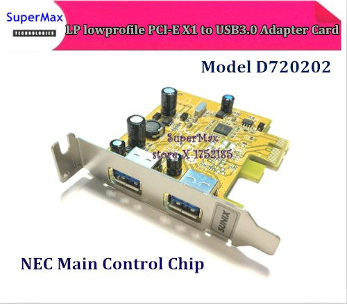 Free Shipping NEC Chip D720202  LP  lowprofile USB 3.0 PCI express Expansion Card 2 port USB 3.0 PCI-e PCIe Adapter C