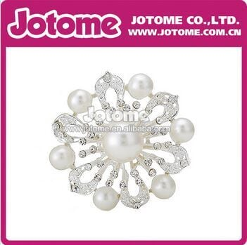 100pcs/lot  Pearl Wedding Rhinestone Crystal Brooches and Pins for Decor