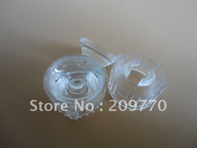 Wholesale- LED lens 20MM 45degrees optical lens Contain bracket 1W 3W Reflector Collimator